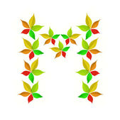 Autumn alphabet - M — Stock Photo