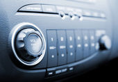 Modern car audio system (shallow DoF) — Stock Photo