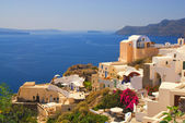 Beautiful landscape view (Santorini Island, Greece) — Stok fotoğraf