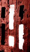 Light coming trough brick holes — Stock Photo