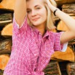 Country blond girl — Stock Photo #5097892