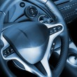 Car interior toned in blue — Stock Photo
