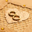 Luxury handmade wedding card element — Stock Photo