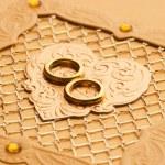 Luxury handmade wedding card element — Stock Photo