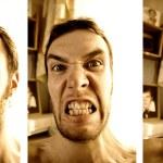 Three funny faces — Stock Photo