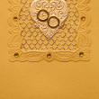 Luxury handmade wedding card - Stock Photo