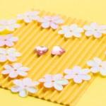 Luxury handmade wedding card — Stock Photo