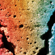 Abstract texture of a colorful contrete wall — Stock Photo