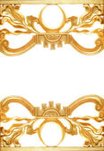 Abstract golden border — Stock Photo