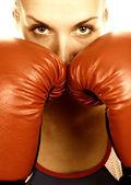ボクサーの女の子 — ストック写真