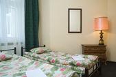 Hotel twin room — Stock Photo