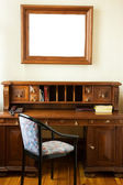 Luxury cabinet with a frame of the wall (perfect place for text — Stok fotoğraf