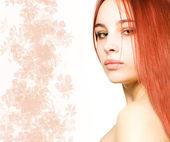 Beautiful girl with a red hair — Stock Photo