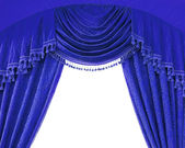 Luxury curtains with free space in the middle — Stock Photo