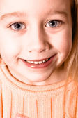 Close-up portrait of a little girl — Stock Photo