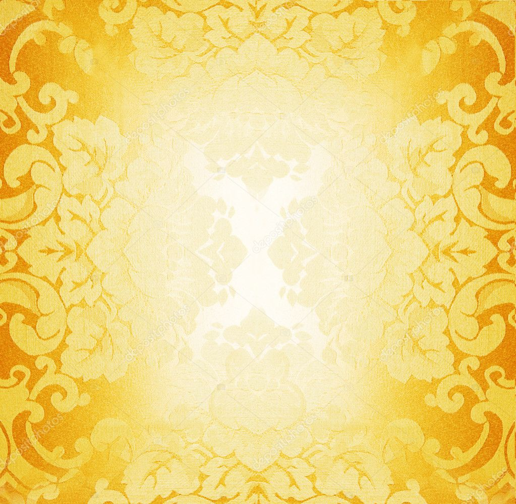 Golden fabric pattern — Stock Photo #5097818