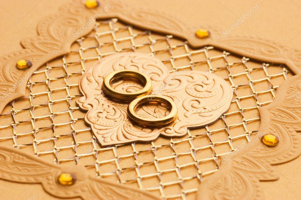 Luxury handmade wedding card element  Stock Photo #5098127
