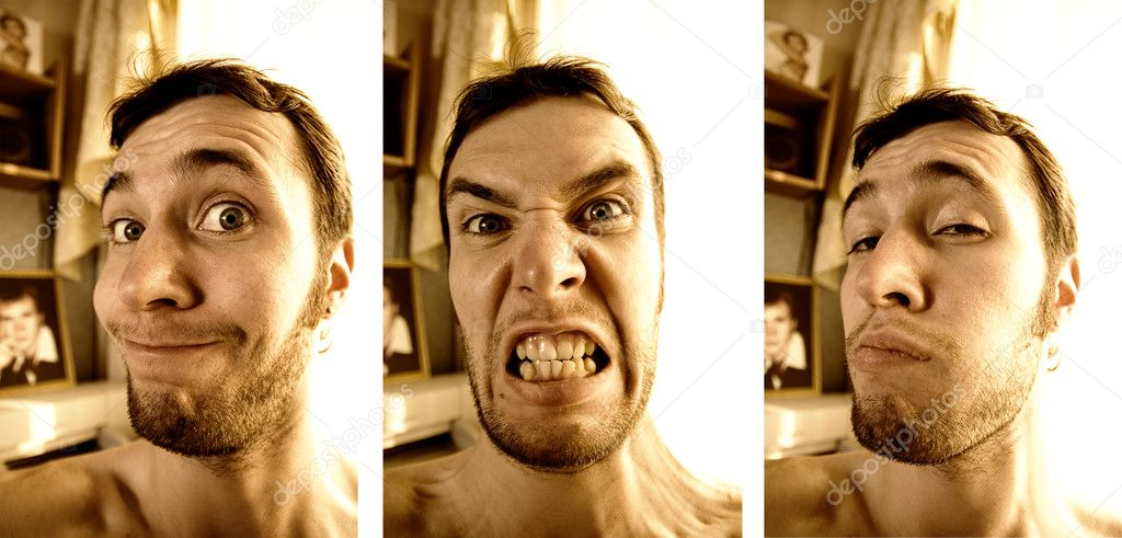 Three funny faces  Stock Photo #5098298