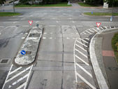 City crossroads — Stock Photo