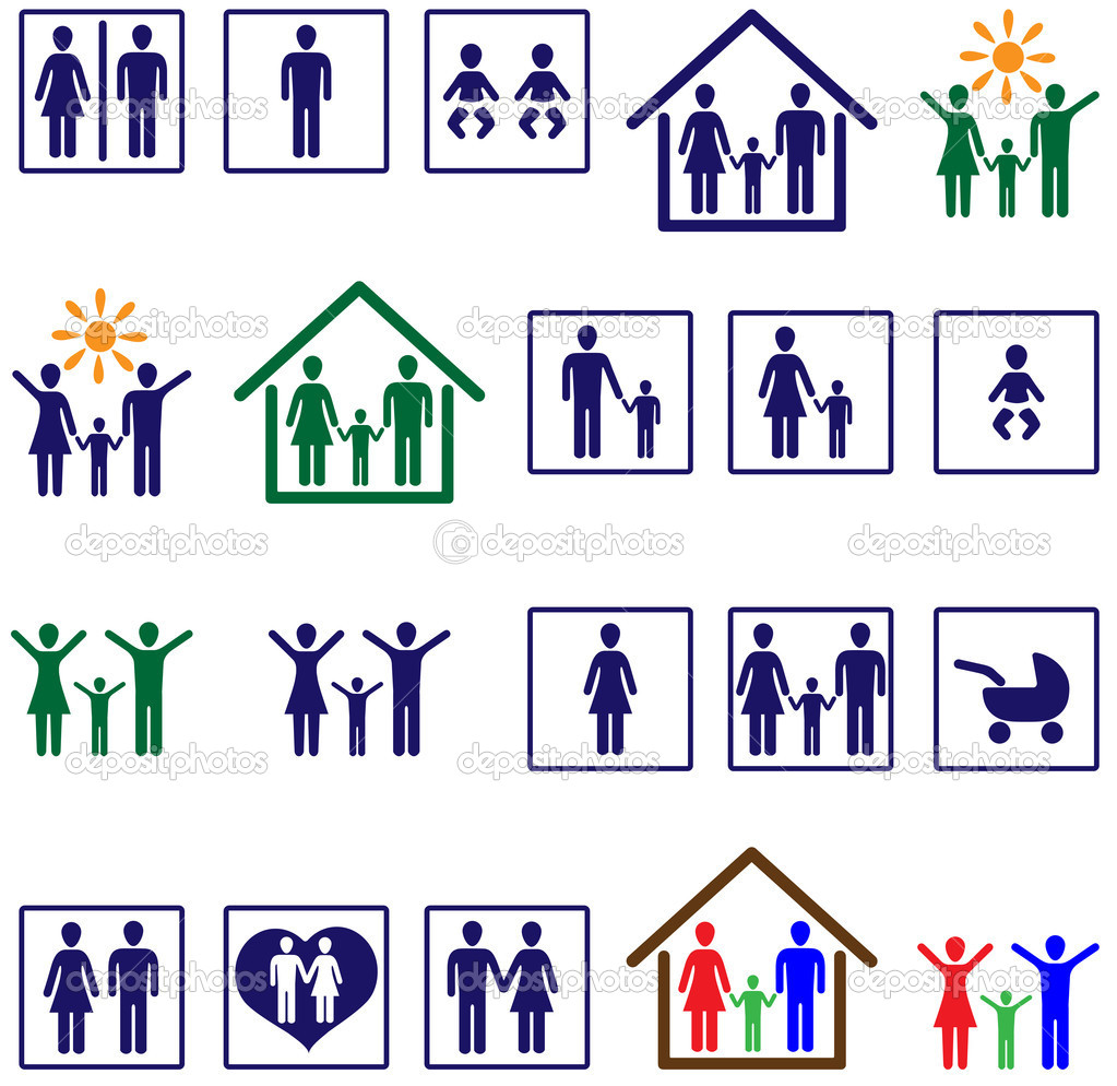 Family icons  Stock Vector #2738016
