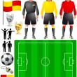 Royalty-Free Stock Vector Image: Set of icons for European football