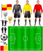 Set of icons for European football — Stock Vector
