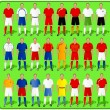 Royalty-Free Stock Obraz wektorowy: National teams of European football-1