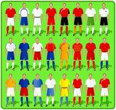 National teams of European football-1 — Stock Vector