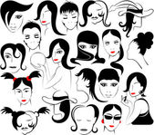 Feminine face — Stock Vector