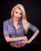 Cute blond girl posing — Stock Photo