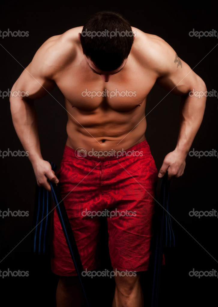 Handsome athlete during his training — Stock Photo #2759677