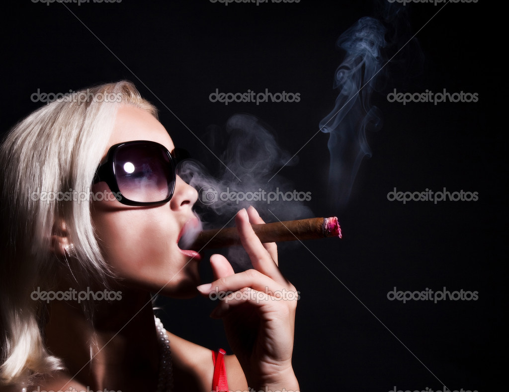 Image of sexy smoking girl  Stock Photo #2780524