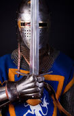 Noble knight with sword — Stock Photo