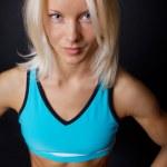 Sportswoman is posing — Stock Photo
