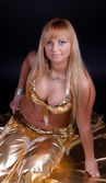 Image of belly dancer — Stock Photo