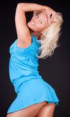 Cute blonde is posing — Stock Photo