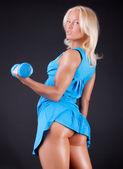 årets idrottskvinna med sexig röv — Stockfoto
