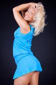 Sexy blonde in studio — Stock Photo
