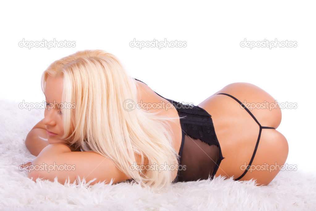 Picture of sexy girl wearing underwear and sleeping — Stock Photo #2886975