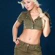 Beautiful girl in military clothes — Stock Photo #2856160