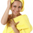 Stock Photo: Girl with yellow towel