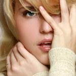 Close-up portrait of pretty woman — Stock Photo #3147637