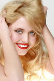 Smiling blonde — Stock Photo