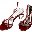 Red female shoes - Stock Photo