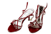 Red female shoes — Stock Photo
