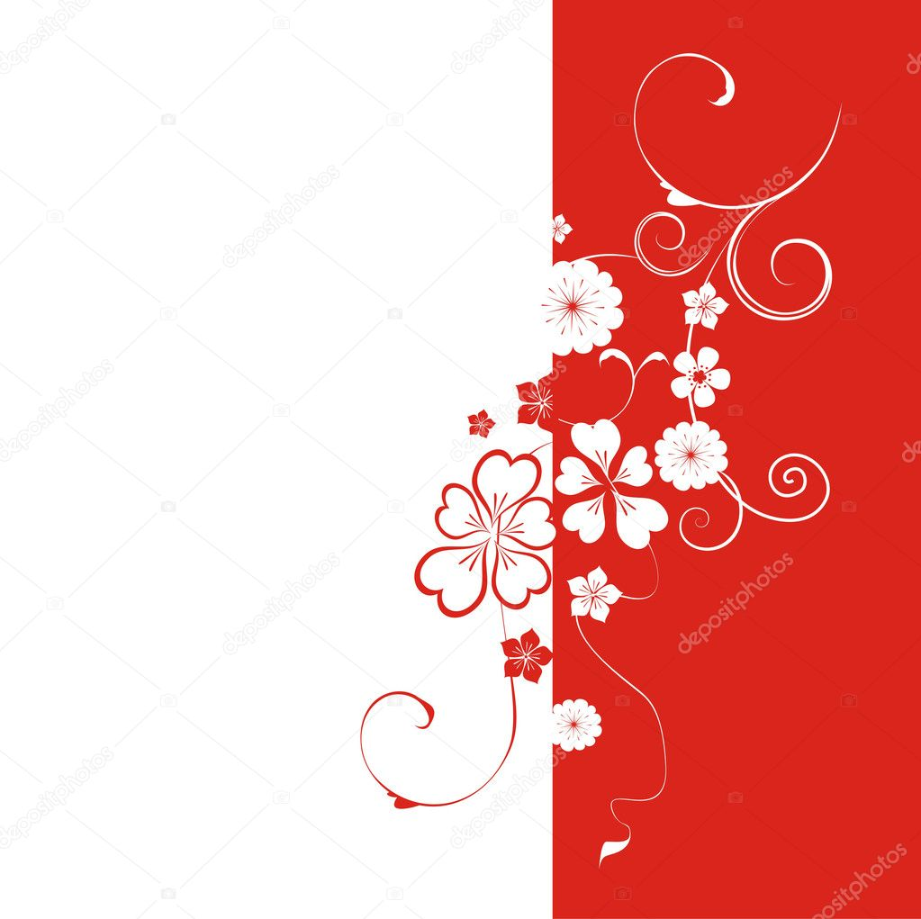 Beautiful background with flower — Stock Vector #2736635