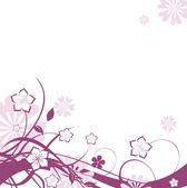 Bakgrund med blomma — Stockvektor