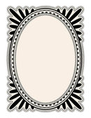 Oval frame — Stock Vector