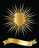 Golden shield — Stock Photo