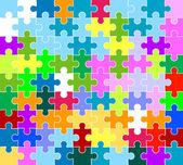 Jigsaw pattern — Stock Photo